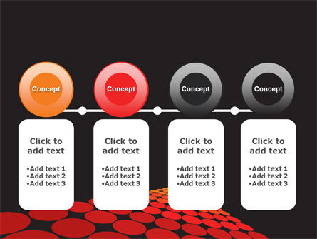 Red Dotted Way PowerPoint Template Slide 5