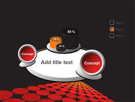 Red Dotted Way PowerPoint Template Slide 6