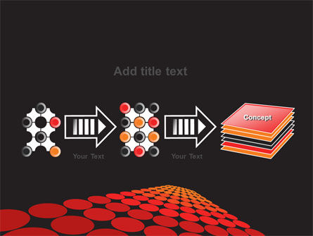 Red Dotted Way PowerPoint Template Slide 9
