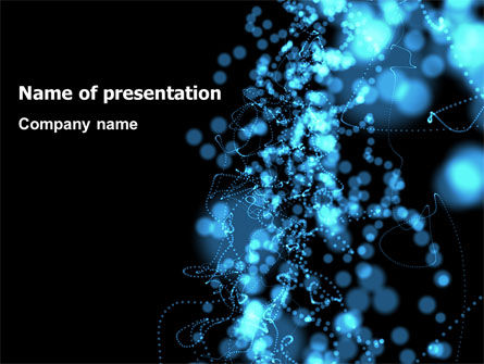 Beads Abstract PowerPoint Template, 07423, Abstract/Textures — PoweredTemplate.com