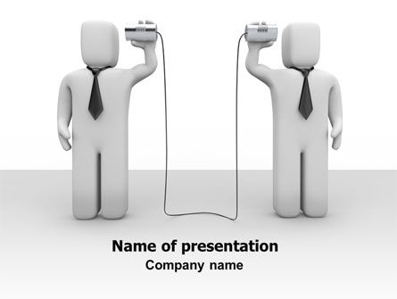 Telecommunication: Communication Means PowerPoint Template #07425