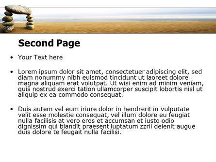 Balanced Stone Gate PowerPoint Template, Slide 2, 07427, Religious/Spiritual — PoweredTemplate.com