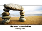 Balanced Stone Gate PowerPoint Template#1