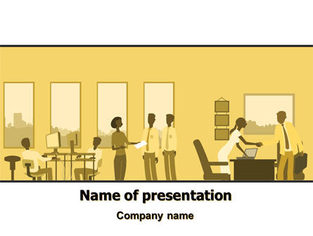 Office Work Activity PowerPoint Template, 07429, Business — PoweredTemplate.com