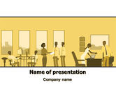Business: Office Work Activity PowerPoint Template #07429