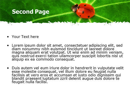 Bug on Leaf PowerPoint Template, Slide 2, 07430, Nature & Environment — PoweredTemplate.com