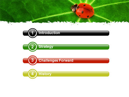 Bug on Leaf PowerPoint Template, Slide 3, 07430, Nature & Environment — PoweredTemplate.com