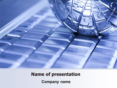 Technology and Science: Internet Global PowerPoint Template #07433