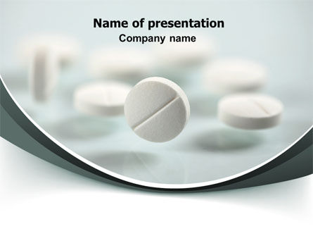 Medical: Falling Pills PowerPoint Template #07434