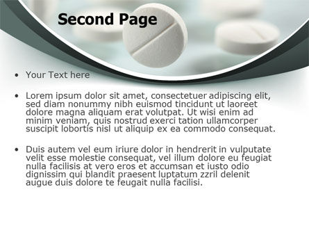 Falling Pills PowerPoint Template, Slide 2, 07434, Medical — PoweredTemplate.com