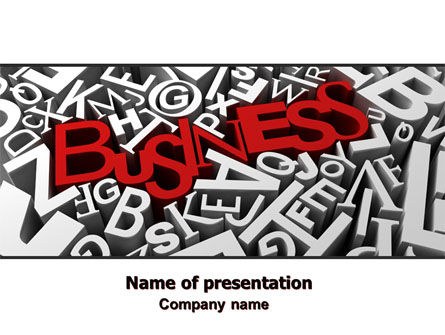 Business Typography PowerPoint Template, 07435, Business — PoweredTemplate.com
