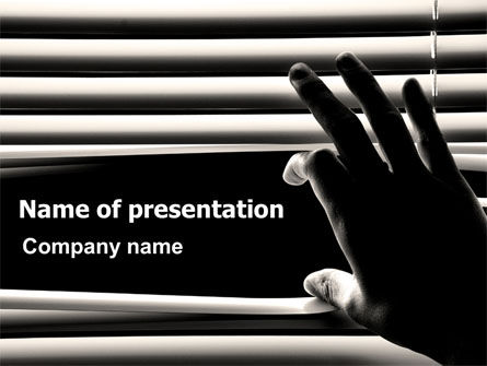 Window Blinds PowerPoint Template, 07436, Consulting — PoweredTemplate.com