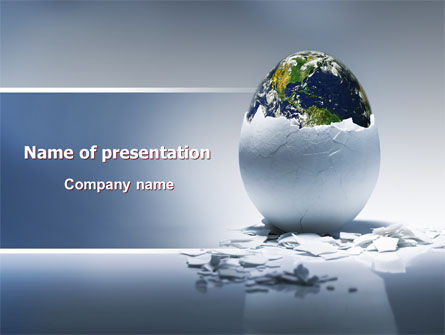 Earth Egg PowerPoint Template