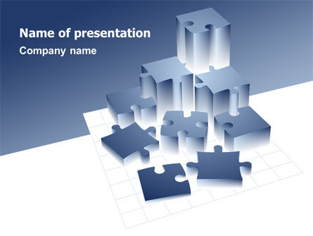 Puzzle Building PowerPoint Template, 07440, Consulting — PoweredTemplate.com