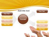 Begging Hands PowerPoint Template#15