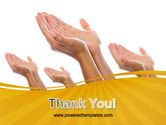 Begging Hands PowerPoint Template#20