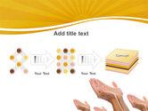 Begging Hands PowerPoint Template#9