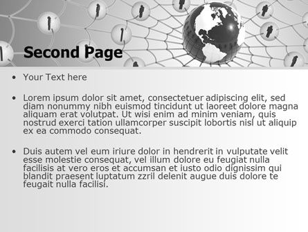 Wide World Web PowerPoint Template, Slide 2, 07443, Technology and Science — PoweredTemplate.com