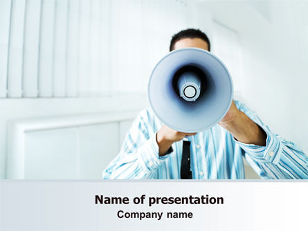 Business: Loud Hailer PowerPoint Template #07444