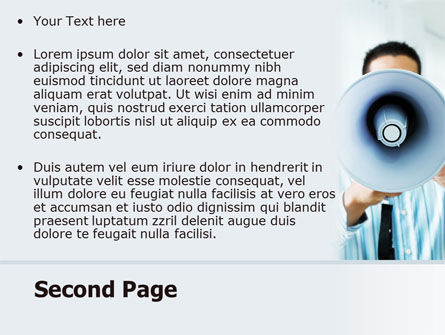 Loud Hailer PowerPoint Template Slide 2