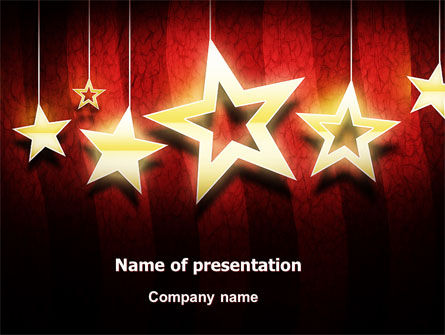 Careers/Industry: Golden Stars PowerPoint Template #07448