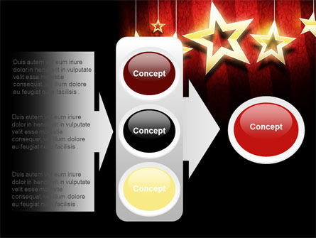 Golden Stars PowerPoint Template Slide 11