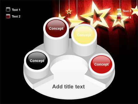 Golden Stars PowerPoint Template Slide 12
