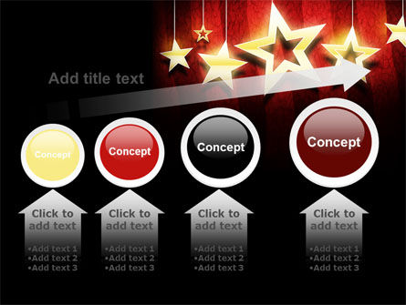 Golden Stars PowerPoint Template Slide 13