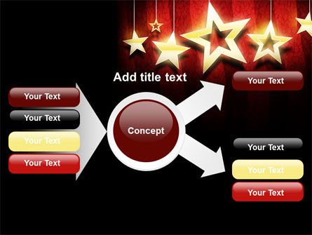 Golden Stars PowerPoint Template Slide 14