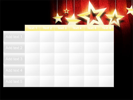 Golden Stars PowerPoint Template Slide 15