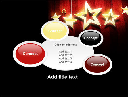 Golden Stars PowerPoint Template Slide 16