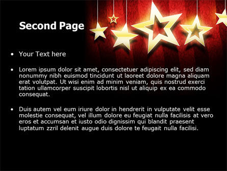 Golden Stars PowerPoint Template Slide 2