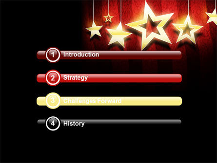 Golden Stars PowerPoint Template Slide 3