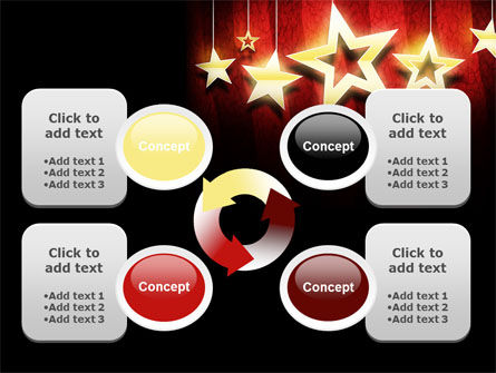 Golden Stars PowerPoint Template Slide 9