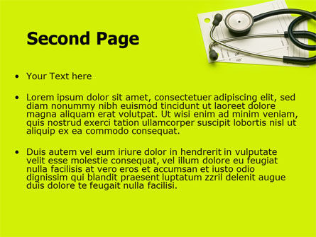 Phonendoscope With Medical Records PowerPoint Template, Slide 2, 07449, Medical — PoweredTemplate.com