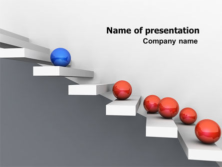 Education & Training: Higher And Higher PowerPoint Template #07450