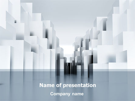 Urban Architecture In Gray Color PowerPoint Template