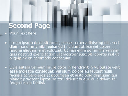 Urban Architecture In Gray Color PowerPoint Template Slide 2