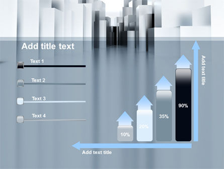 Urban Architecture In Gray Color PowerPoint Template Slide 8