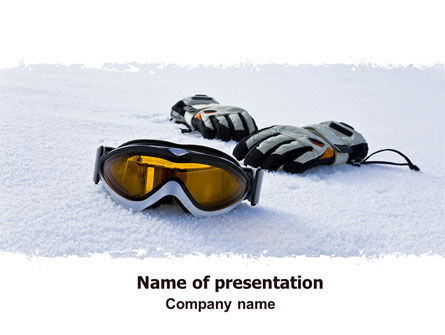 Sports: Sport Goggles PowerPoint Template #07452