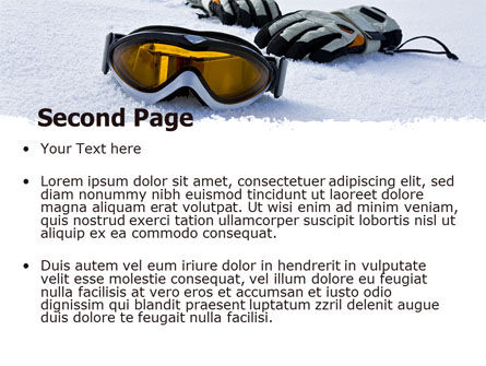 Sport Goggles PowerPoint Template Slide 2