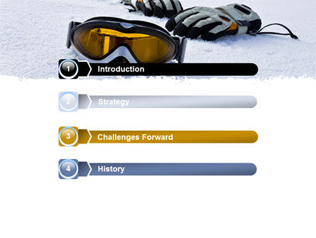 Sport Goggles PowerPoint Template Slide 3