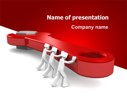 Business: Red Wrench PowerPoint Template #07454