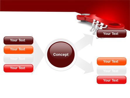 Red Wrench PowerPoint Template Slide 14