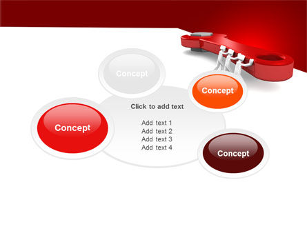 Red Wrench PowerPoint Template Slide 16