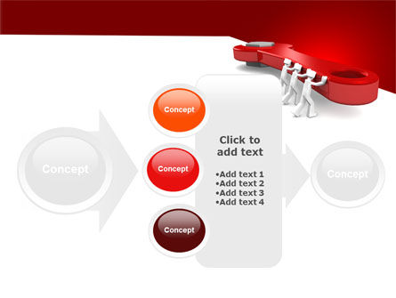 Red Wrench PowerPoint Template Slide 17