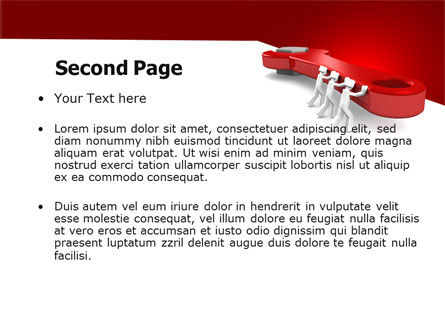 Red Wrench PowerPoint Template Slide 2