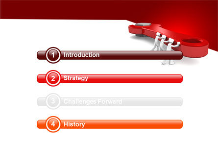 Red Wrench PowerPoint Template Slide 3