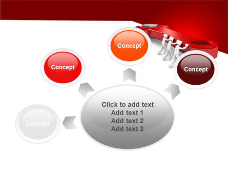 Red Wrench PowerPoint Template Slide 7
