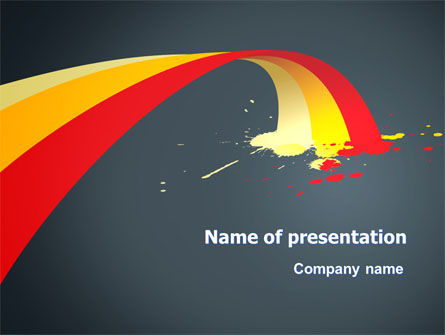 Yellow Red Stripes PowerPoint Template, 07455, Art & Entertainment — PoweredTemplate.com